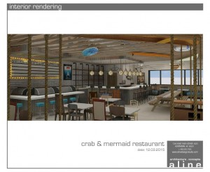 crab & mermaid interior