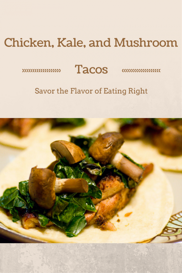 Our Chicken Kale Mushroom Tacos are not only delicious but healthy as well! 2geekswhoeat.com #tacos #healthy