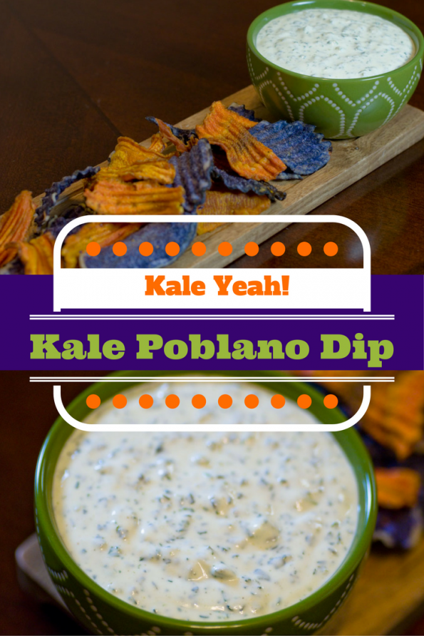 Kale Yeah! This Kale Poblano dip is not only delicious but healthy as well! 2geekswhoeat.com #Kale #Dip