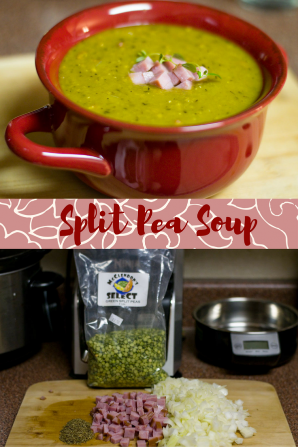 Perfect for cool weather, the Geeks share their recipe for Split Pea Soup along with a few facts about everyone's favorite green soup! 2geekswheat.com #soup #recipe
