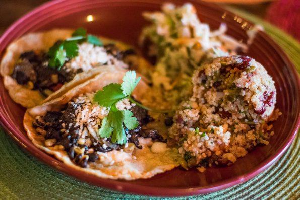 Corn, Poblano, and Mushroom Tacos
