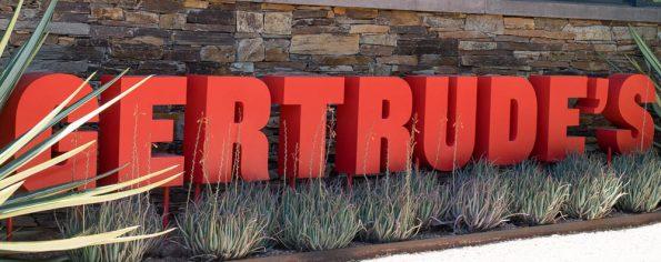 Gertrude's is located at the Desert Botanical Garden in Phoenix Arizona