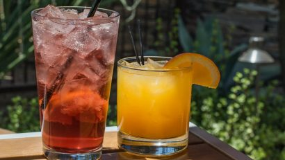 The Hand-made Spritzer and Rye-ly Coyote can be ordered at Gertrude's located in the Desert Botanical Gardens