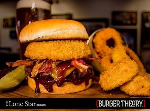 Burger Theory Lone Star Burger Onion Ring