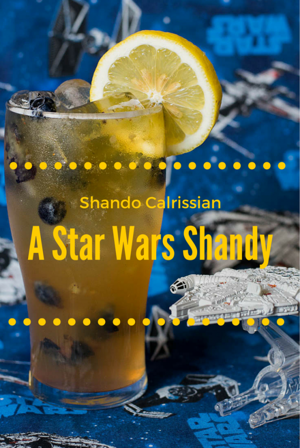 Shando Calrissian- A Star Wars inspired blueberry shandy! 2geekswhoeat.com #StarWars #Cocktails #Geek
