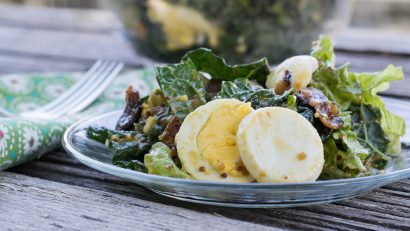 Honey Mustard Kale and Bacon Salad FB