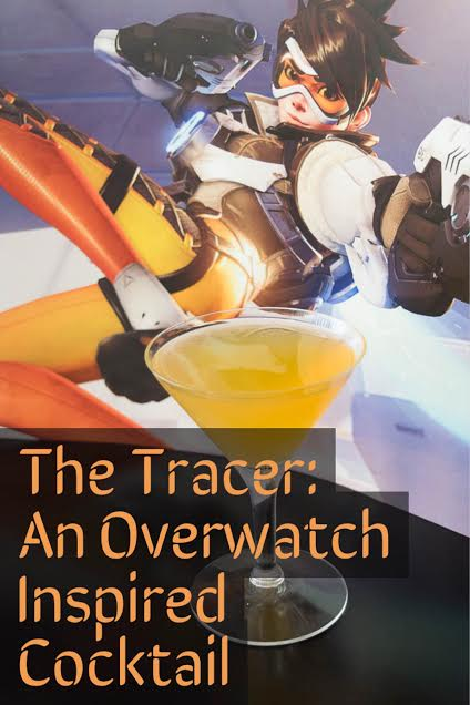 The Tracer Cocktail is The Geeks take on Stoli's Extreme Cocktailing! Celebrate your love of Overwatch with this creative cocktail! 2geekswhoeat.com #cocktails #drinkwhatyouwant