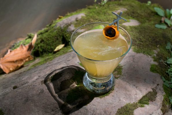 The Black Eyed Stickman: A Blair Witch Inspired Cocktail is perfect for any horror fan who enjoys craft cocktails. 2geekswhoeat.com #cocktails #BlairWitch