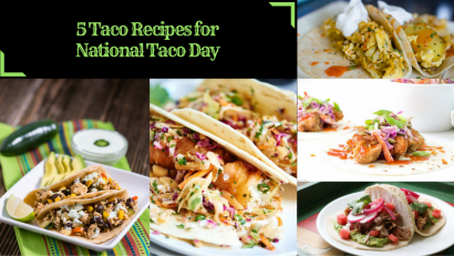 The Geeks round up 5 recipes perfect for National Taco Day! 2geekswhoeat.com #tacos #food