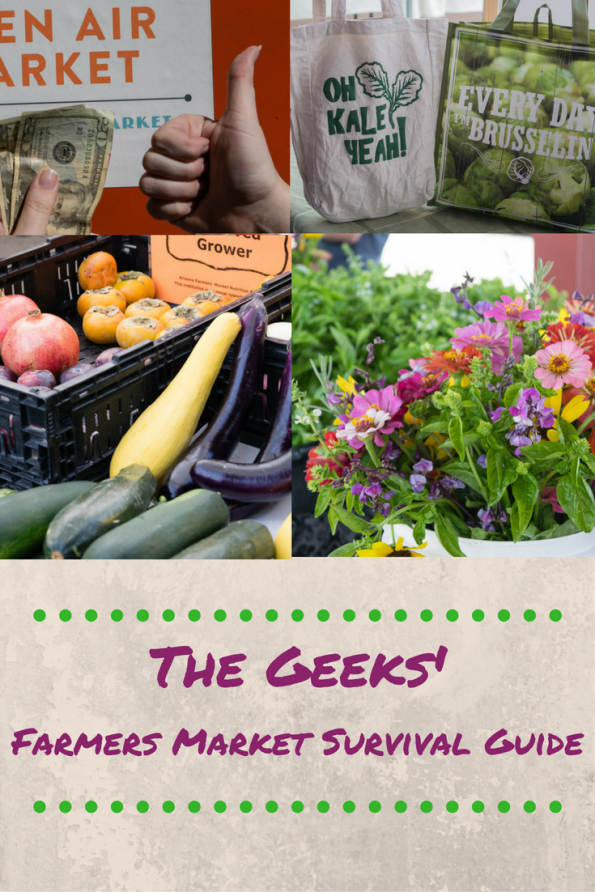 The Geeks share some tips for visiting the Farmers Market to make the most of your visit. 2geekswhoeat.com #ShopLocal #FarmersMarket