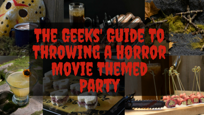The Geeks share their tips for planning the perfect Horror Movie Themed Party! 2geekswhoeat.com #horror #recipes