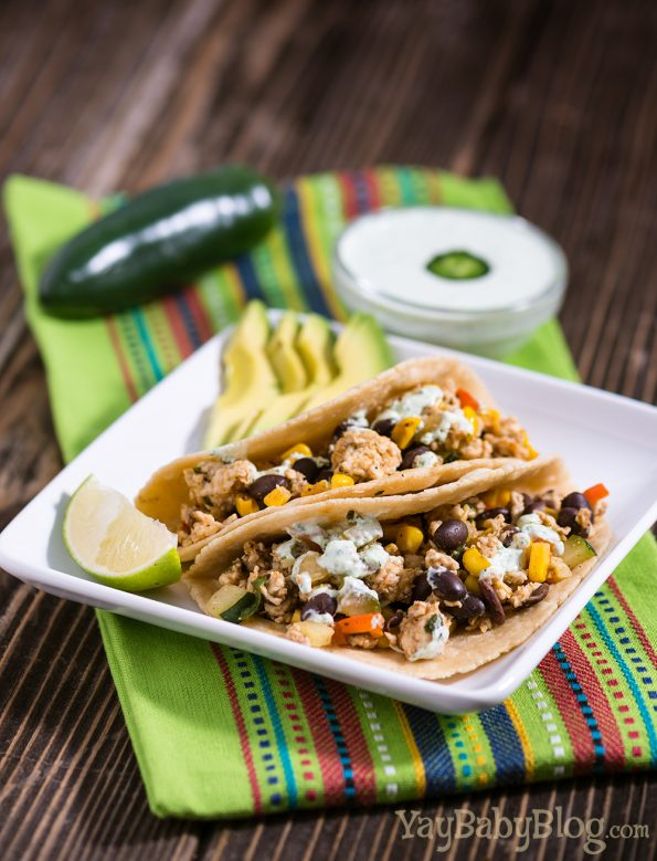Yay Baby! Blog Ground Chicken and Veggie Tacos