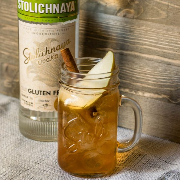 The Perfect Pear features Stoli Gluten Free and is the perfect way to celebrate all that Fall has to offer! 2geekswhoeat.com #Cocktails #GlutenFree