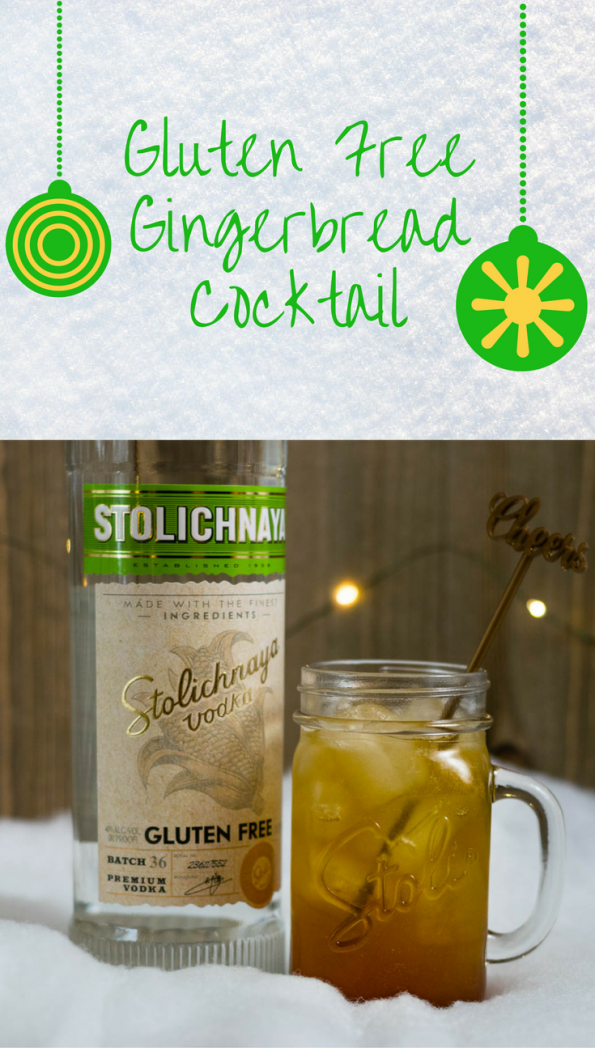 Our gluten free gingerbread cocktail features Stoli Gluten Free and is the perfect way to celebrate the holiday season! 2geekswhoeat.com #Cocktails #GlutenFree