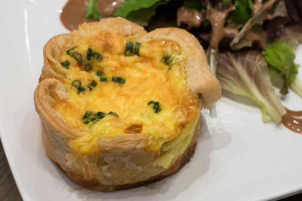 Smoked Salmon Quiche at The Crepe Club