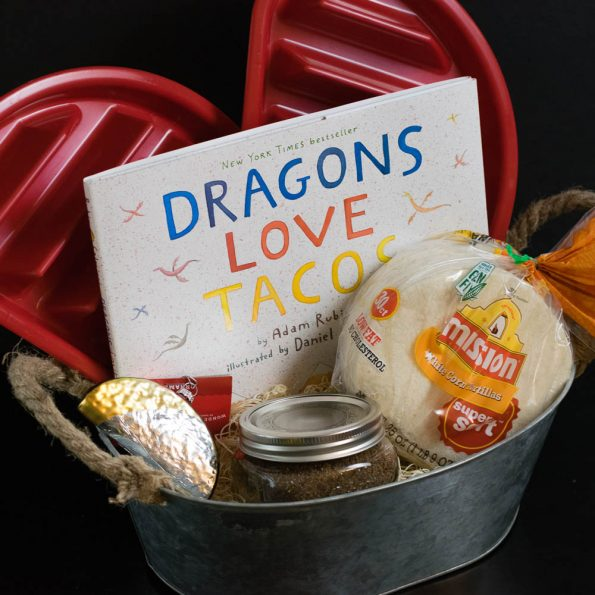 Select a favorite food item and base a gift basket around it! 2geekswhoeat.com #gifts #food