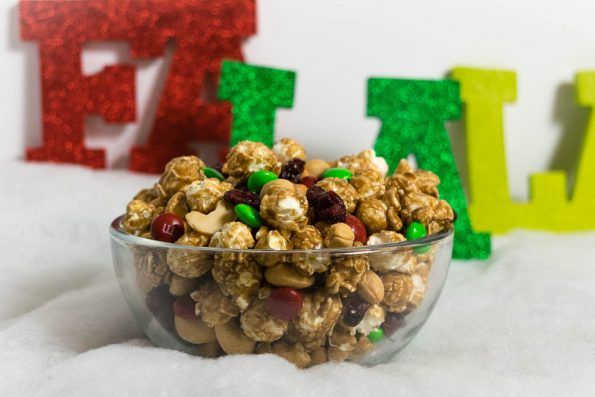 The Geeks share their recipe for a Super Easy Holiday Popcorn Snack Mix, perfect for all of your holiday entertaining needs.