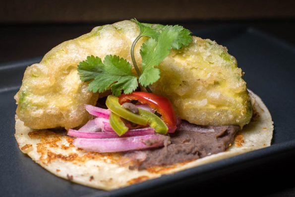 Tempura Avocado Taco at CRUjiente Tacos 2geekswhoeat.com