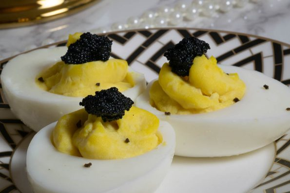 West Egg Deviled Eggs are perfect your next 1920s themed party as they excude the opulence of the era! 2geekswhoeat.com #Zelda #Food
