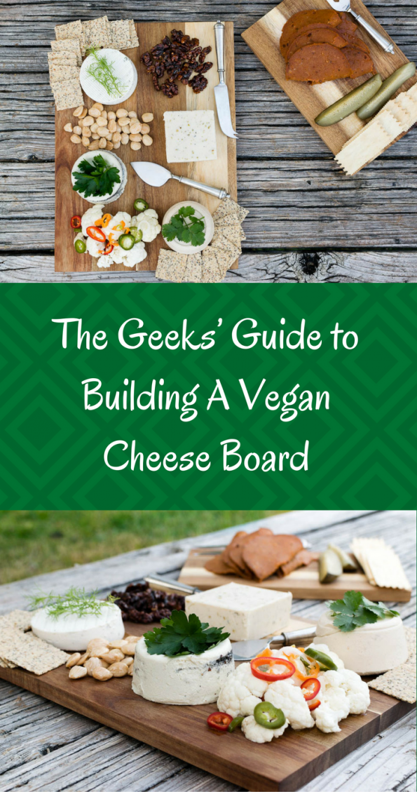 Want to build a beautiful but vegan cheese board? We have some tips for you! 2geekswhoeat.com #cheese #vegan