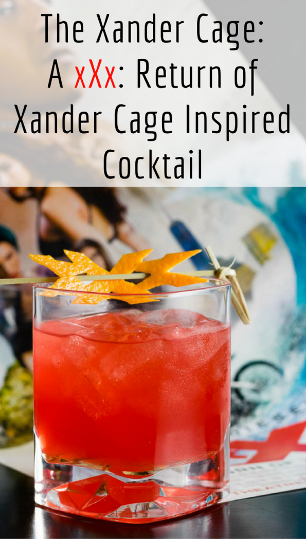 The Xander Cage is a cockail inspired by xXx: Return of Xander Cage 2geekswhoeat.com #Cocktail #Movies