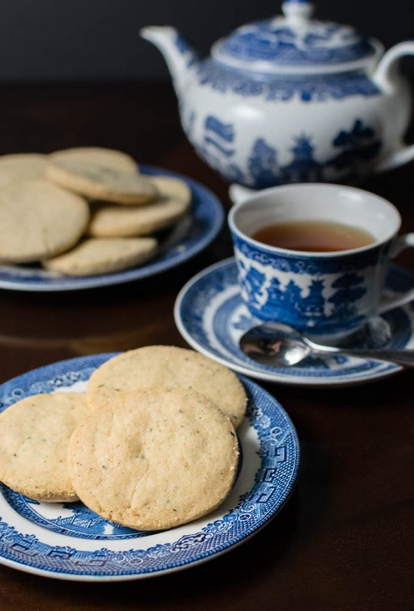 These Tea Leaf Shortbread Cookies are inspired by Jordan Peele's Thriller Get Out and are the perfect tea time treat! 2geekswhoeat.com #HorrorMovieRecipes #MovieFood #MovieRecipes #Cookies #Baking #TeaIdeas #GetOut #Shortbread #Tea