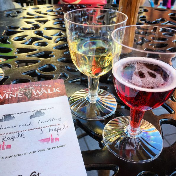 Rosa Regale is part of the World Showcase Wine Walk at Epcot. 2geekswhoeat.com #wine #Epcot