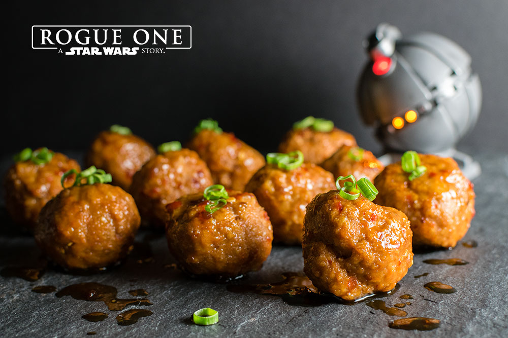 Star Wars Recipes | Star Wars | As one of their three recipes created for Rogue One: A Star Wars Story, The Geeks have come up with Thermal Detonators, a turkey meatball recipe. 2geekswhoeat.com