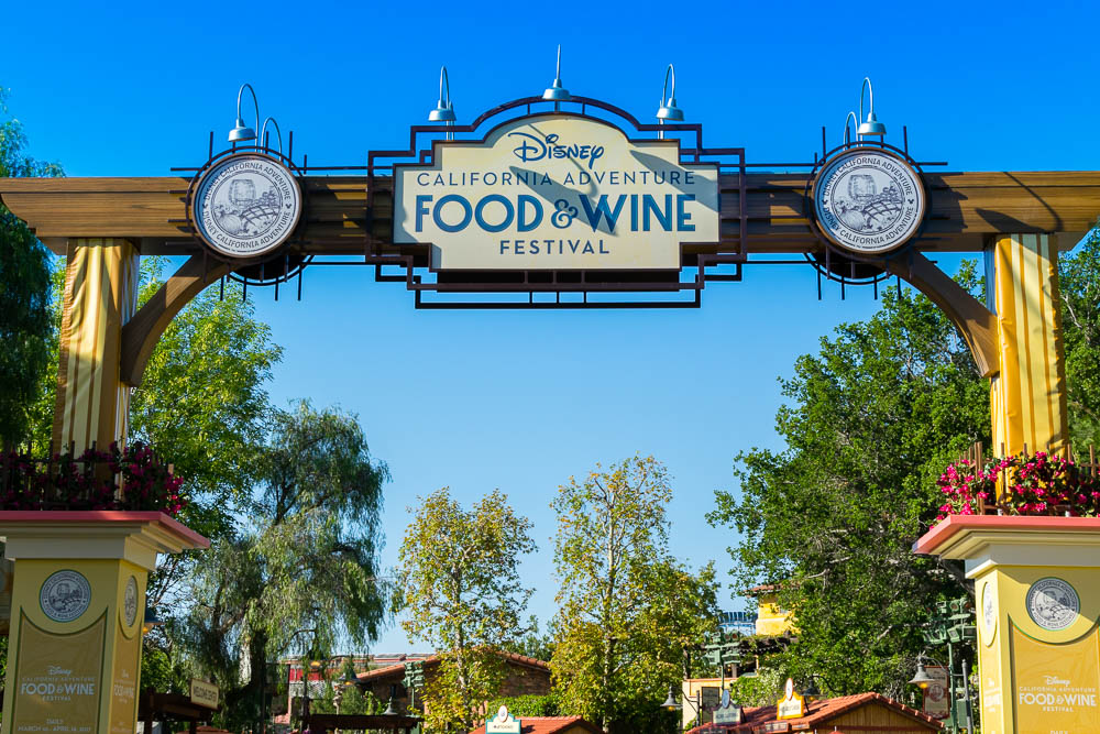 Disney California Adventure Food and Wine Festival Entrance