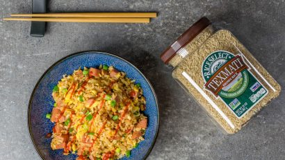 Fried Rice | Healthy Recipe Hacks |Spam and Kimchi Fried Rice isn't the healthiest meal but with a few clever hacks The Geeks show you how to make it healthier. [ad] 2geekswhoeat.com