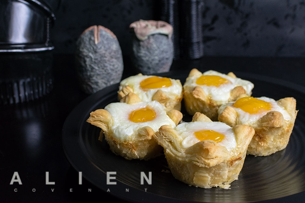Movie Recipes | Breakfast Recipes | The Geeks have created a breakfast recipe for Xenomorph Egg Cups. The recipe is inspired by the highly anticipated movie Alien: Covenant. 2geekswhoeat.com