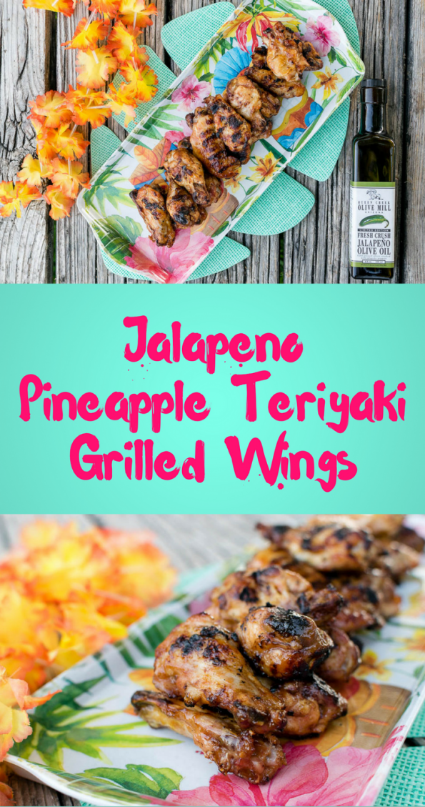Grilled Wings | Chicken Wing Recipes | Chicken Recipes | The Geeks have started a partnership with Queen Creek Olive Mill and for their first recipe have created Jalapeno Pineapple Teriyaki Wings. [Sponsored] 2geekswhoeat.com