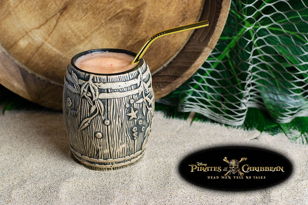 Mocktail Recipes | Movie Recipes | Tropical Drink Ideas | The Geeks have created the But Why's the Rum Gone Mocktail for the release of Pirates of the Caribbean: Dead Men Tell No Tales. It uses different fruits along with some allspice to create a flavor that would please anyone from the seasoned captain to the youngest swabbie. [giveaway] 2geekswhoeat.com