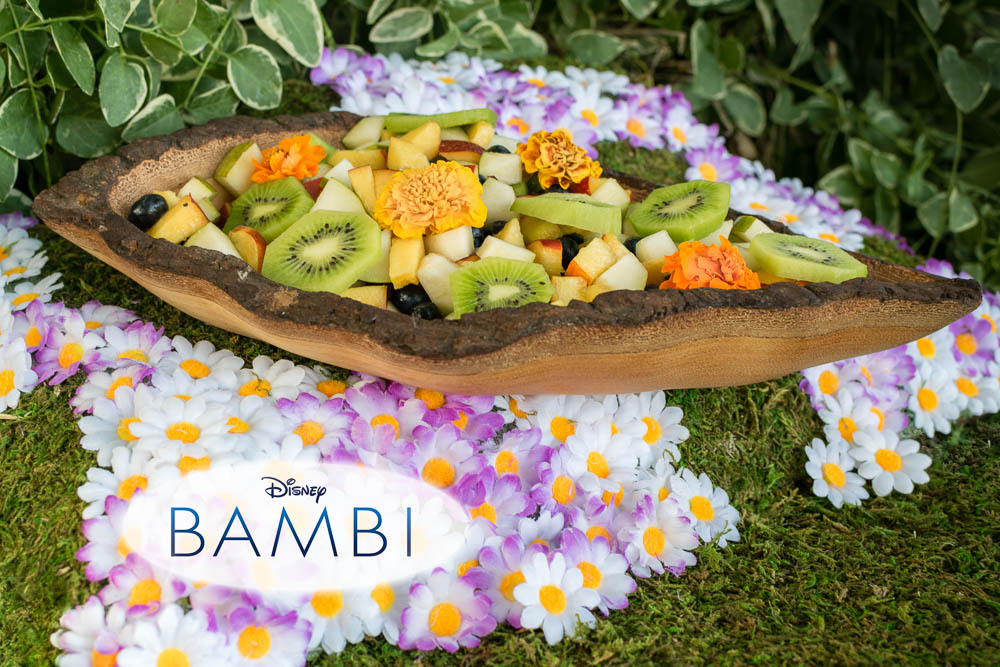 Disney Recipes | Bambi | Fruit Salad | Celebrate the 75th Anniversary and the Walt Disney Signature Collection release of Bambi with Flower's Floral Fruit Salad [ad] 2geekswhoeat.com
