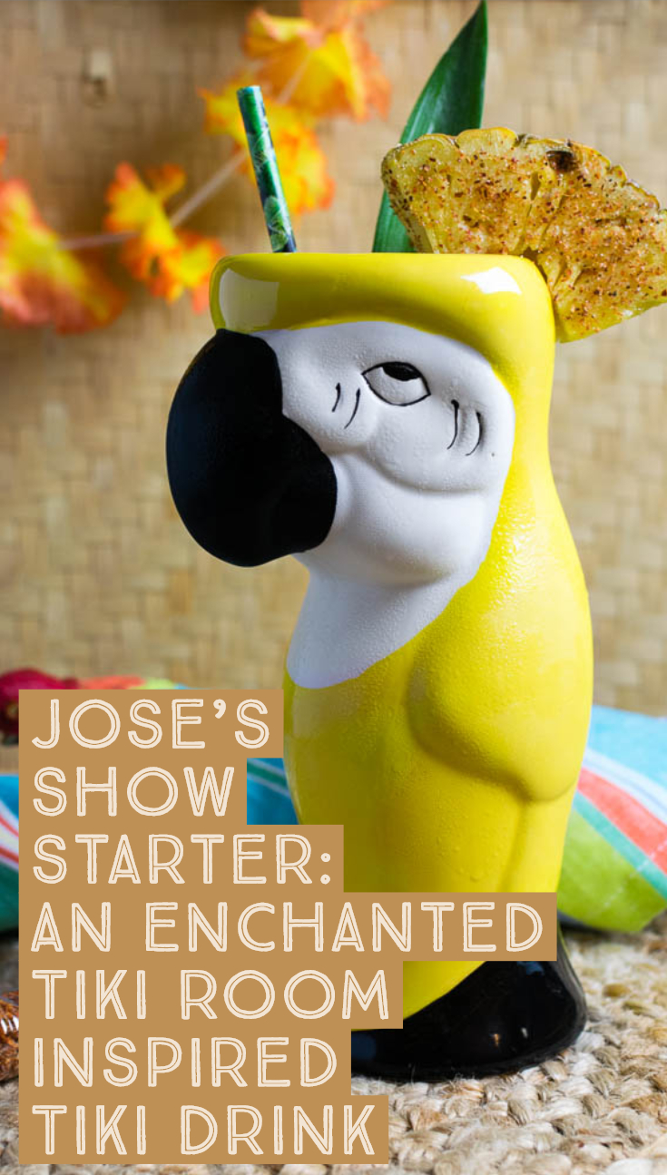 Tiki Drinks | Disney Recipes | Cocktails | The Geeks have created a series of Tiki Drinks inspired by The Enchanted Tiki Room birds, starting with Jose. 2geekswhoeat.com