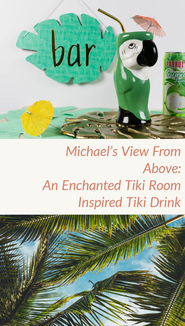 Tiki Drinks | Disney Recipes | Cocktails | The Geeks have created a series of Tiki Drinks inspired by The Enchanted Tiki Room birds, the 2nd tiki drink in the series is based on the Irish parrot Michael. 2geekswhoeat.com