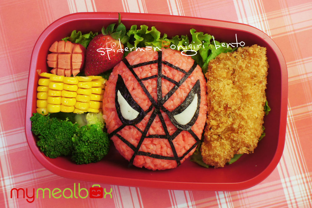 Spider-Man Onigiri Bento by My Meal Box
