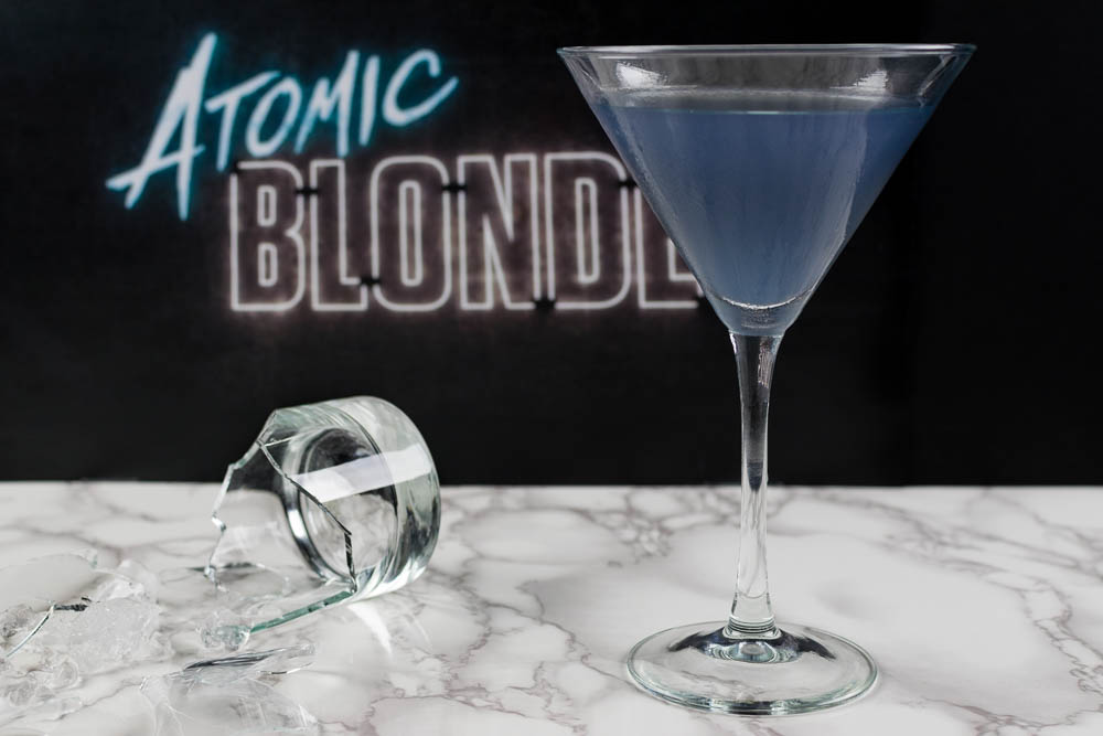 Cocktail Recipe | Movie Recipes | The Geeks have created an Atomic Blonde inspired cocktail worthy of the greatest spy! [giveaway] 2geekswhoeat.com