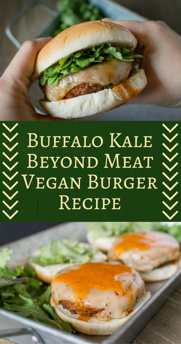 The Geeks have partnered with Whole Foods Market to create 5 burgers perfect for summer. The third burger is their Kale Buffalo Vegan Burger! [sponsored] 2geekswhoeat.com #VeganRecipes #Vegan #VeganBurger #BeyondMeat #Veganuary