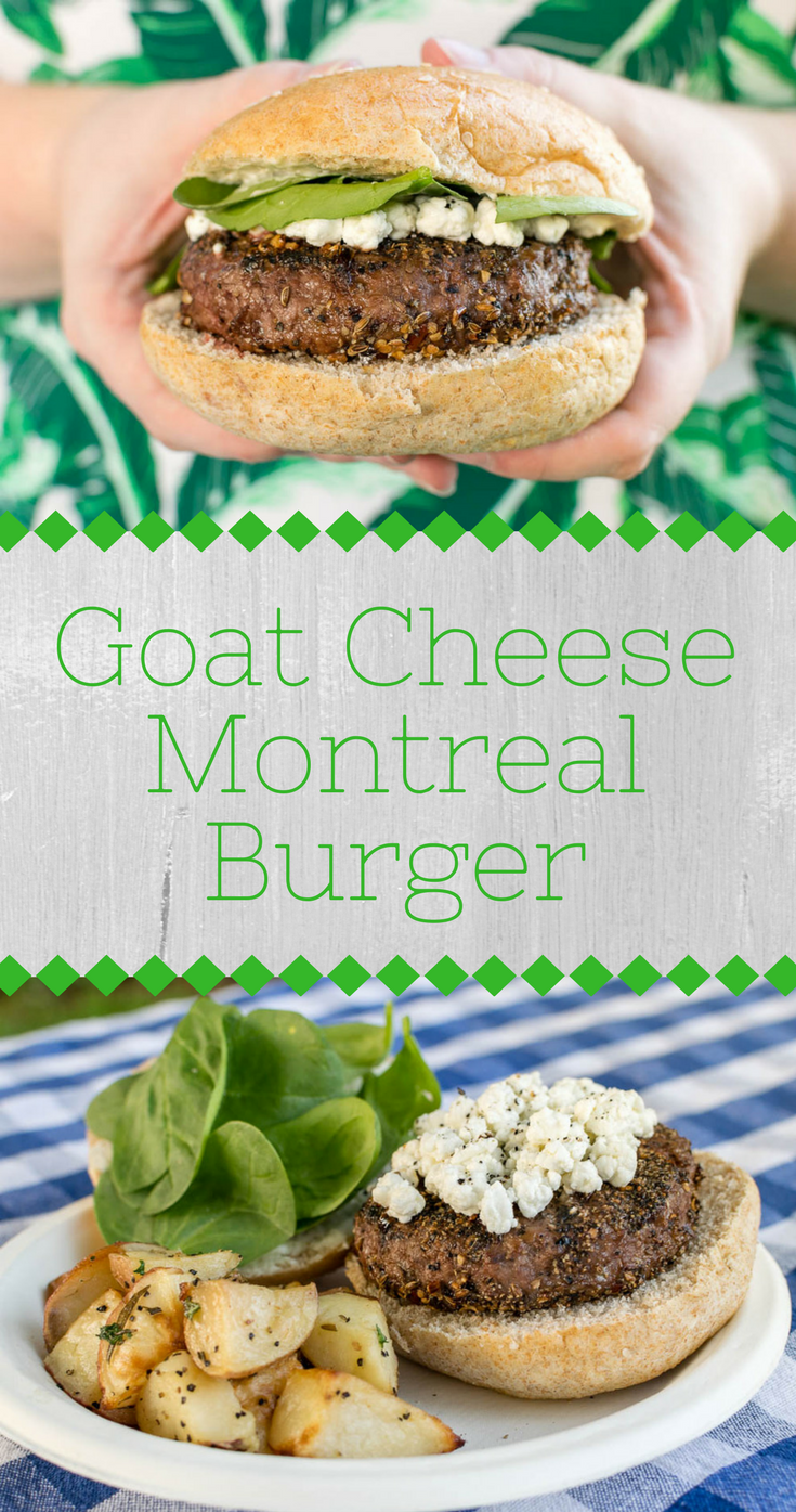 BBQ Recipes | Grilling | Burger Recipes | The Geeks have partnered with Whole Foods Market to create 5 burgers perfect for summer. The second burger is their Goat Cheese Montreal Burger! [sponsored] 2geekswhoeat.com