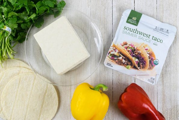 Vegan Recipes | Tacos | Healthy Recipes| Inspired by their busy schedule, The Geeks have created a quick and easy Vegan Tofu Taco recipe featuring Simply Organic Southwest Taco Simmer Sauce! [ad]