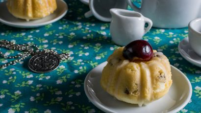 Dessert | Tea Recipes | Movie Recipes | Inspired by Annabelle: Creation The Geeks have created Cherry Almond Tea Cakes perfect for any tea party! Even one with a demon! [Giveaway] 2geekswhoeat.com