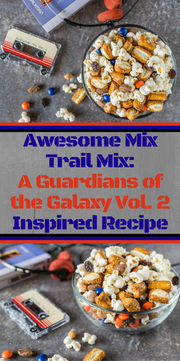 Marvel Recipes | Guardians of the Galaxy Recipes | Trail Mix | The Geeks have created their own Awesome Mix with their Awesome Mix Trail Mix recipe inspired by Guardians of the Galaxy Vol. 2! [ad] 2geekswhoeat.com