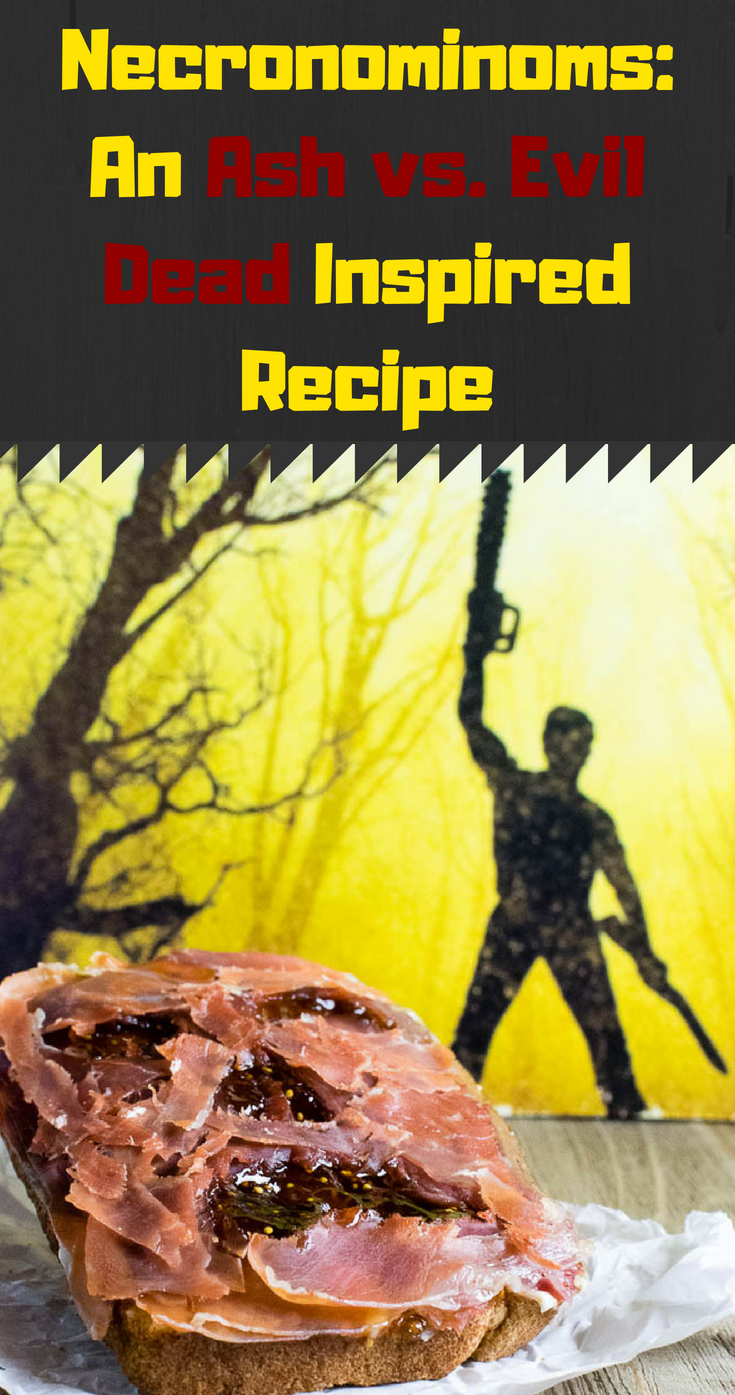 Excited for the release of season 2 of Ash vs. the Evil Dead, The Geeks have created a groovy recipe for Necronominoms! 2geekswhoeat.com #HorrorRecipes #HorrorFood #HalloweenRecipes #TelevisionRecipes #TheEvilDead #GeekyRecipes