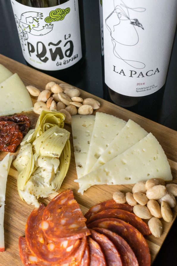 Tapas | Charcuterie Board | Cheese Board | Inspired by the film The Trip to Spain, The Geeks have created a guide for a tapas inspired charcuterie board, giving you a taste of Spain at home! [giveaway] 2geekswhoeat.com