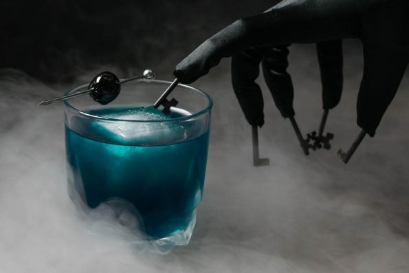 Horror Movies | Cockail Recipes | Ancho Reyes | Halloween | In order to get ready for the 4th installment of the Insidious franchise, Insidious: The Last Key, The Geeks have created a cocktail called The Further. 2geekswhoeat.com