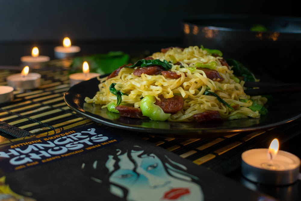 Comic Recipes | Ramen Recipes | Noodles | Anthony Bourdain | The Geeks have created a new sweet and spicy recipe called 100 Candle Noodles inspired by Anthony Bourdain's new comic Hungry Ghosts! [sponsored] 2geekswhoeat.com