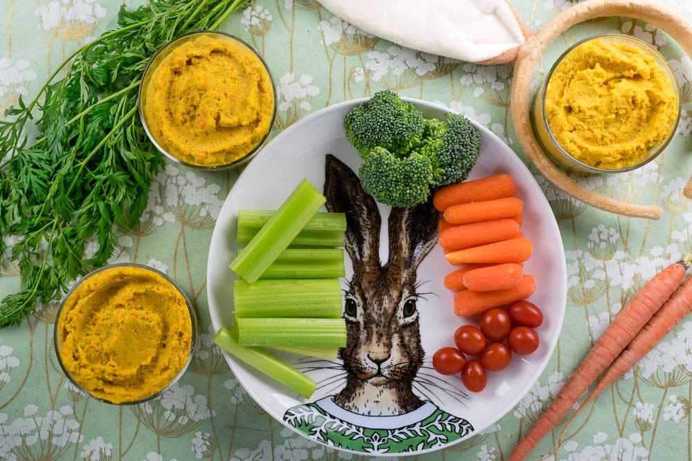 Peter Rabbit | Hummus Recipes | Kid Friendly Recipes | Kids Party Ideas | The Geeks have come up with a new hummus recipe, Curry Carrot Hummus, for the release of Sony Pictures' latest film, Peter Rabbit. 2geekswhoeat.com
