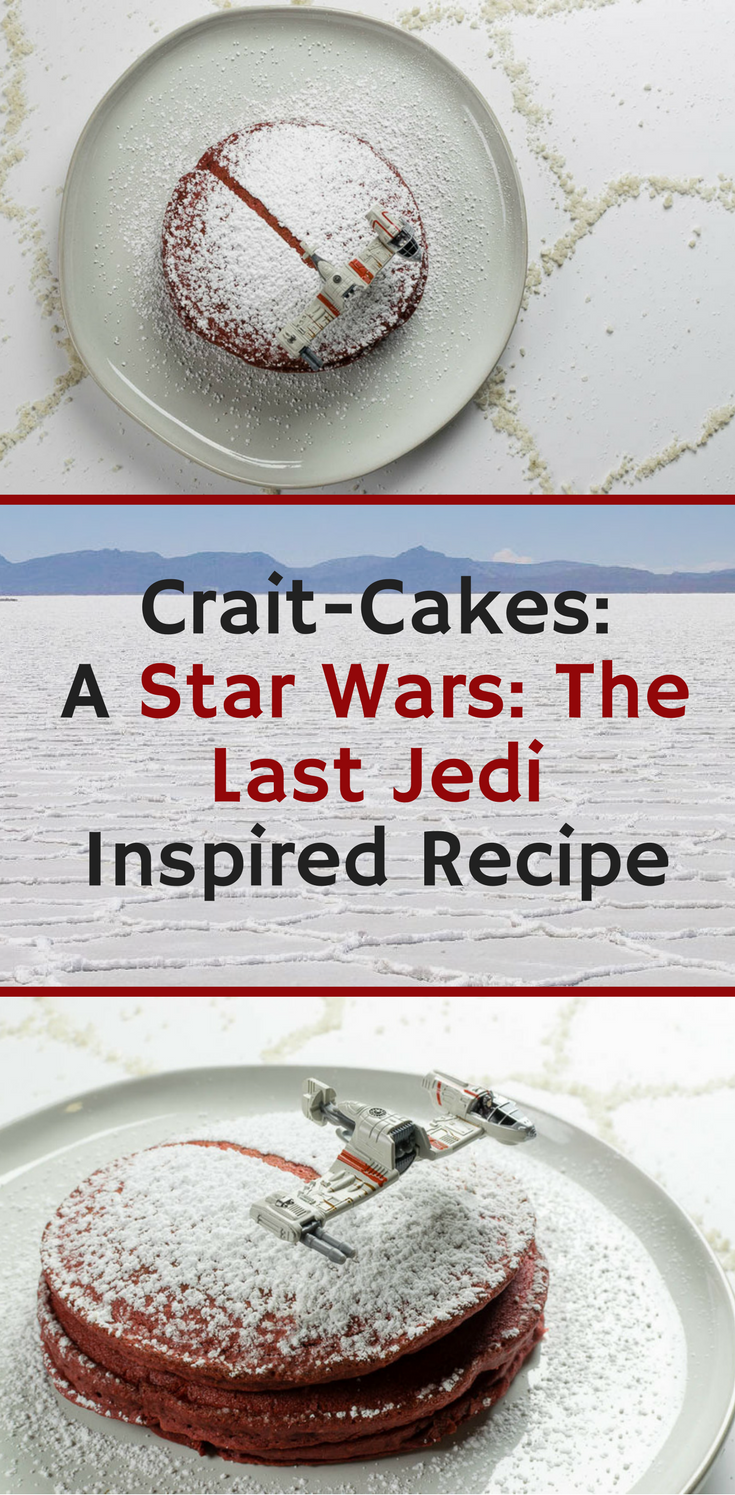 Geeky Recipes | Star Wars Recipes | To celebrate the release of Star Wars: The Last Jedi, The Geeks have created a recipe for Crait-Cakes, a fun Star Wars inspired version of red velvet pancakes! [sponsored] 2geekswhoeat.com