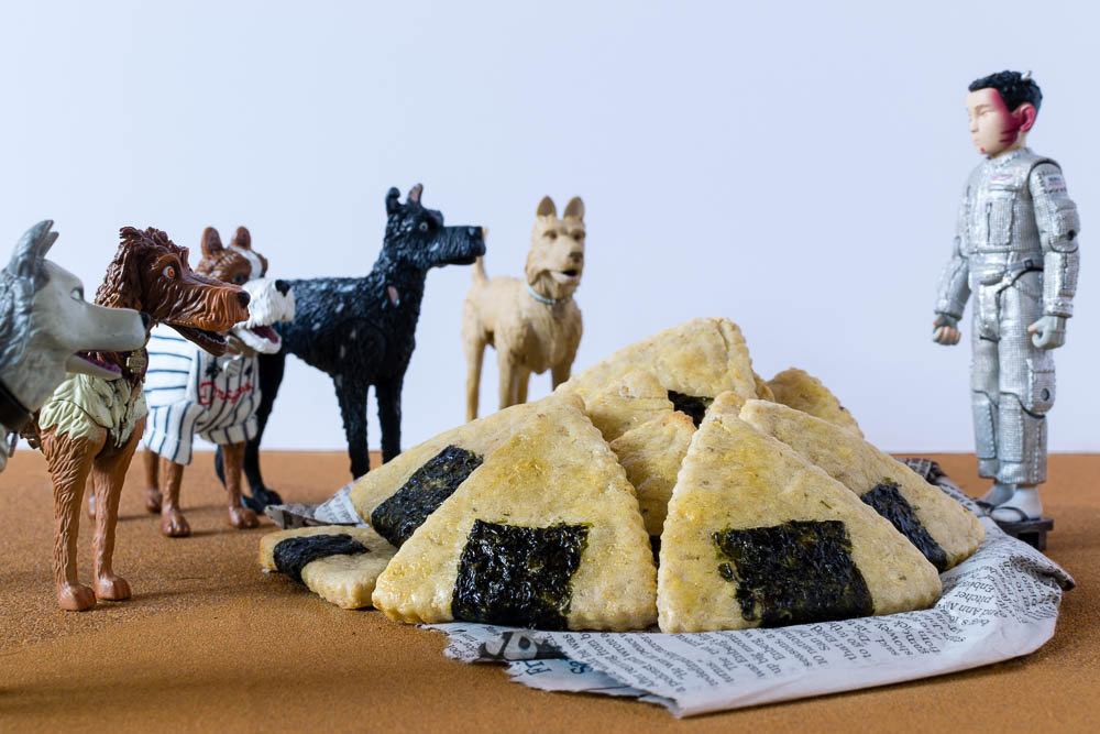 Dog Treats | DIY Dog Treats | Homemade Dog Treats | Who says only humans can have geeky treats? The Geeks have created a recipe for Onigiri Dog Treats inspired by the Wes Anderson film Isle of Dogs. 2geekswhoeat.com